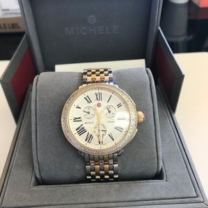 Michele Serein Diamond Two Tone Gold, & Bracelet